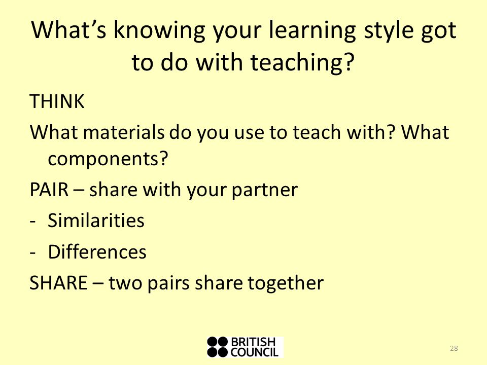 What's knowing your learning style got to do with teaching