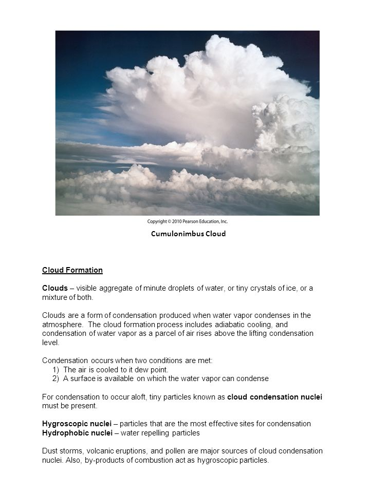 cloud formation and precipitation essay Clouds and precipitation - clouds and precipitation make one of the best meteorological teams learn why clouds and precipitation.