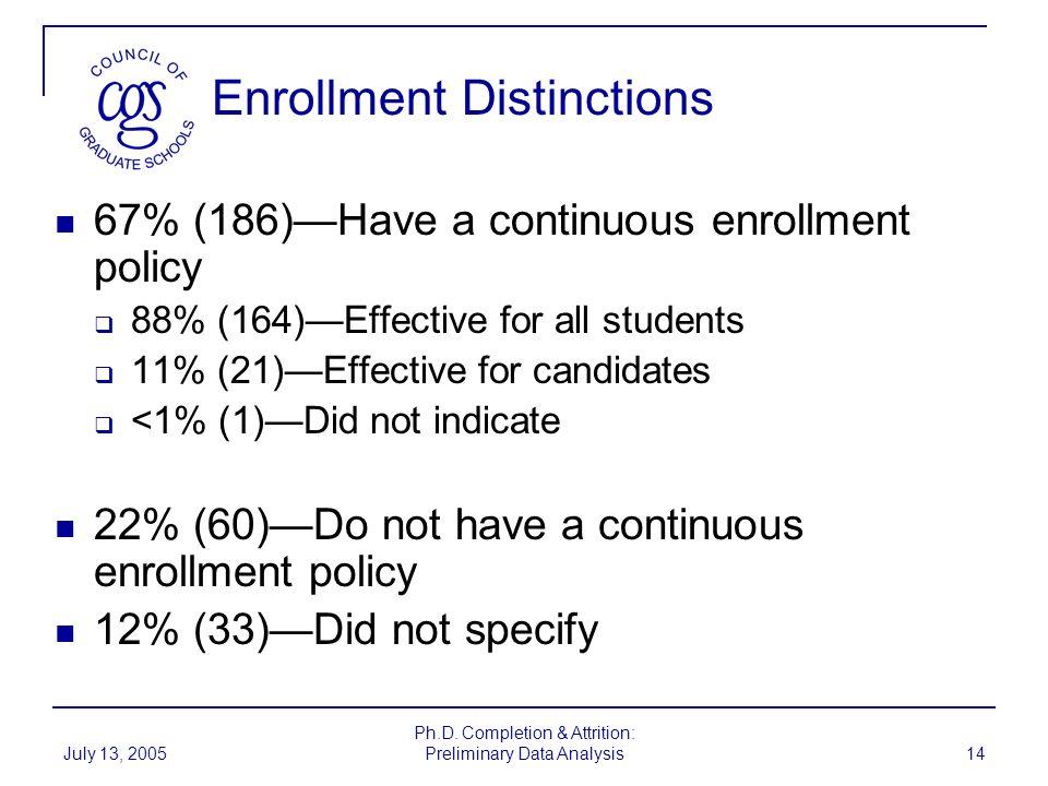 Enrollment Distinctions