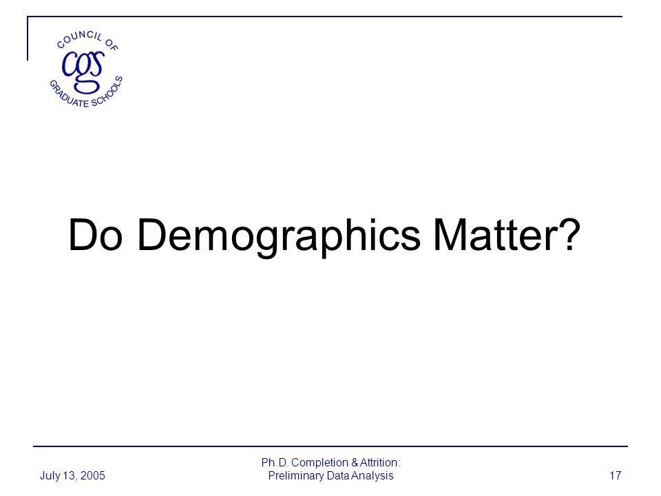 Do Demographics Matter