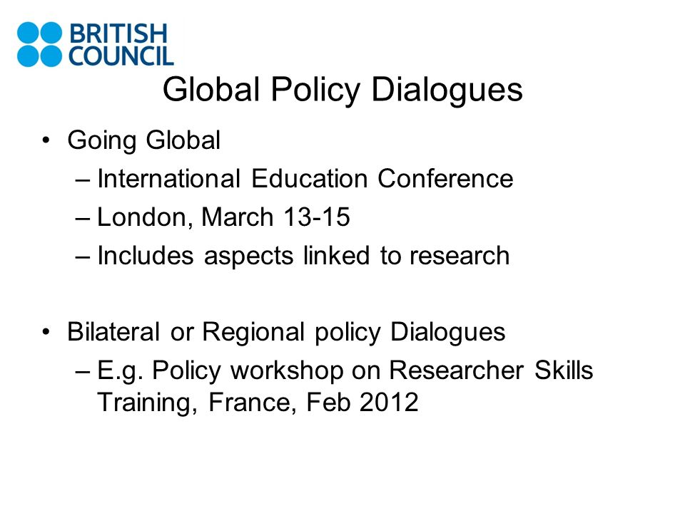 Global Policy Dialogues