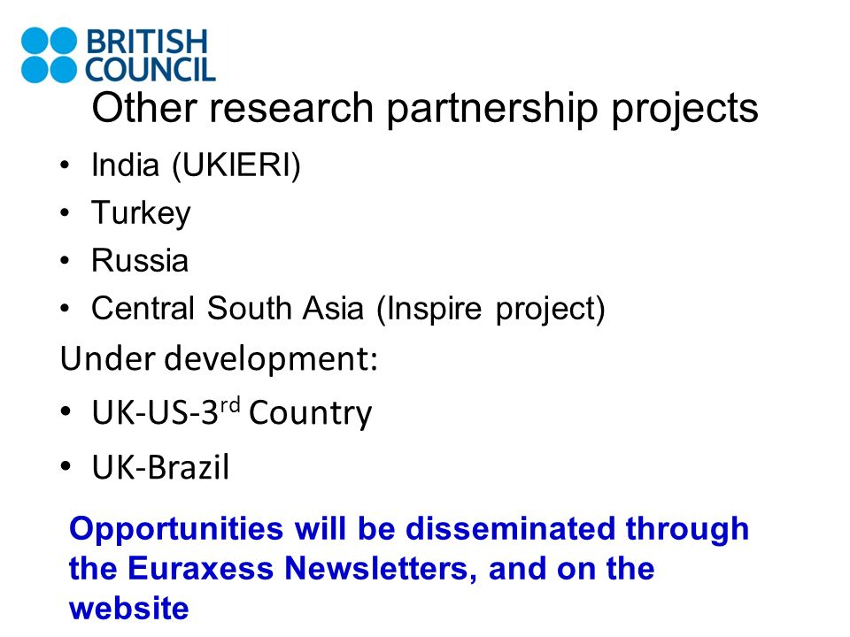 Other research partnership projects
