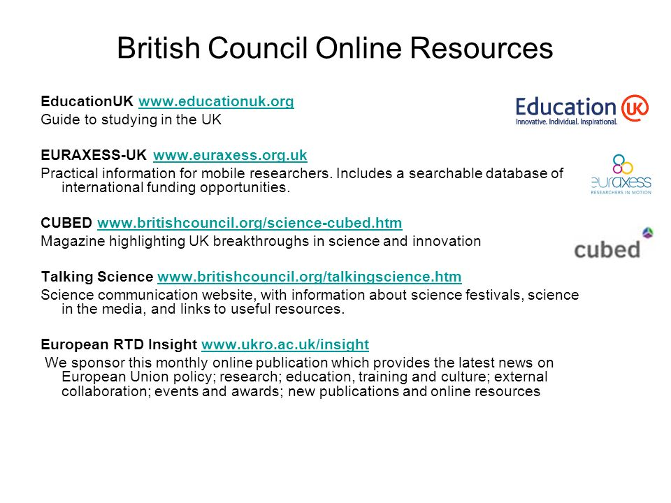 British Council Online Resources