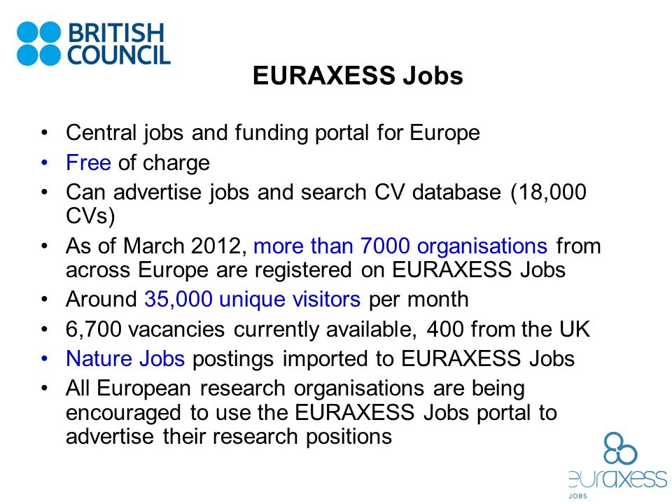 EURAXESS Jobs Central jobs and funding portal for Europe