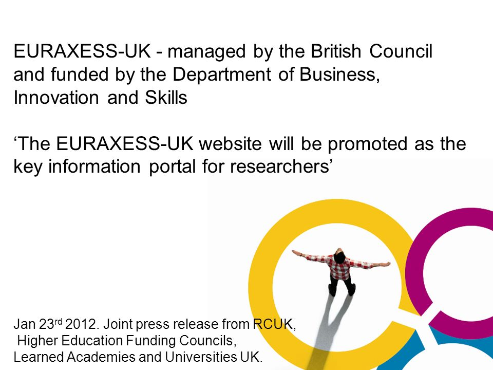 EURAXESS-UK - managed by the British Council and funded by the Department of Business, Innovation and Skills