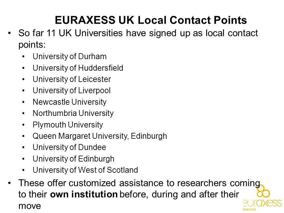 EURAXESS UK Local Contact Points