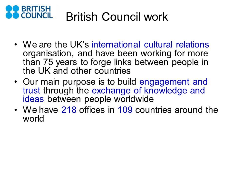British Council work