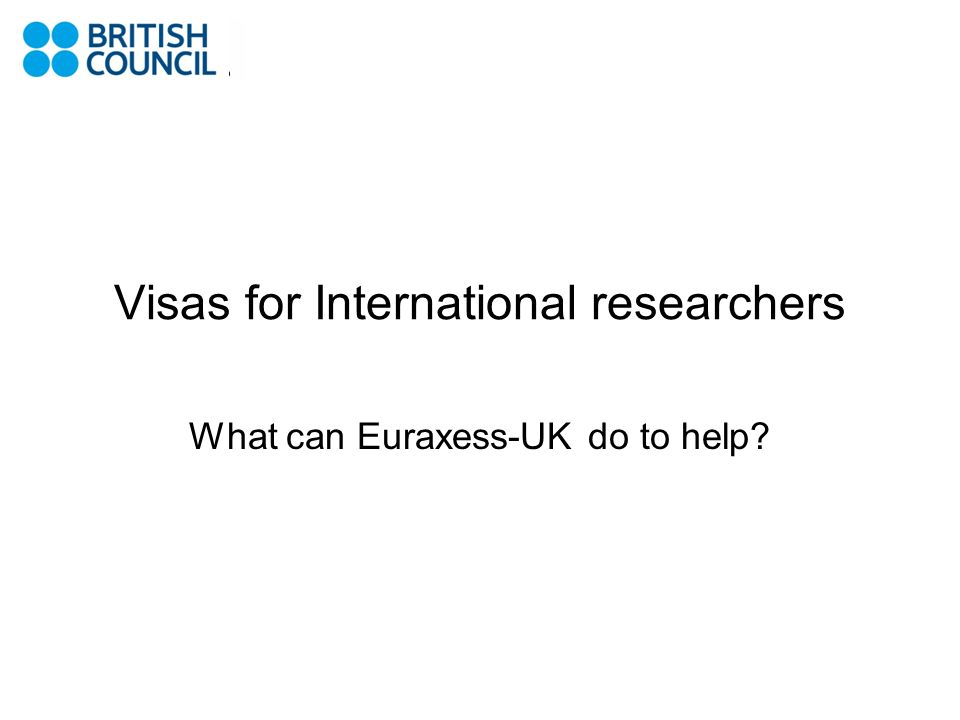 Visas for International researchers