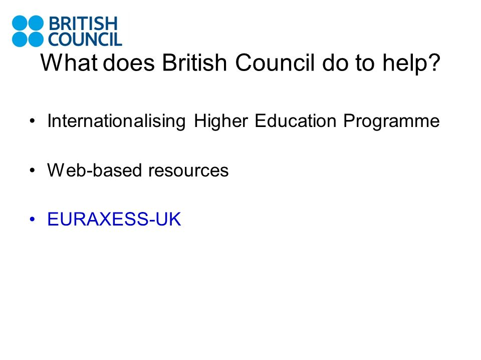 What does British Council do to help