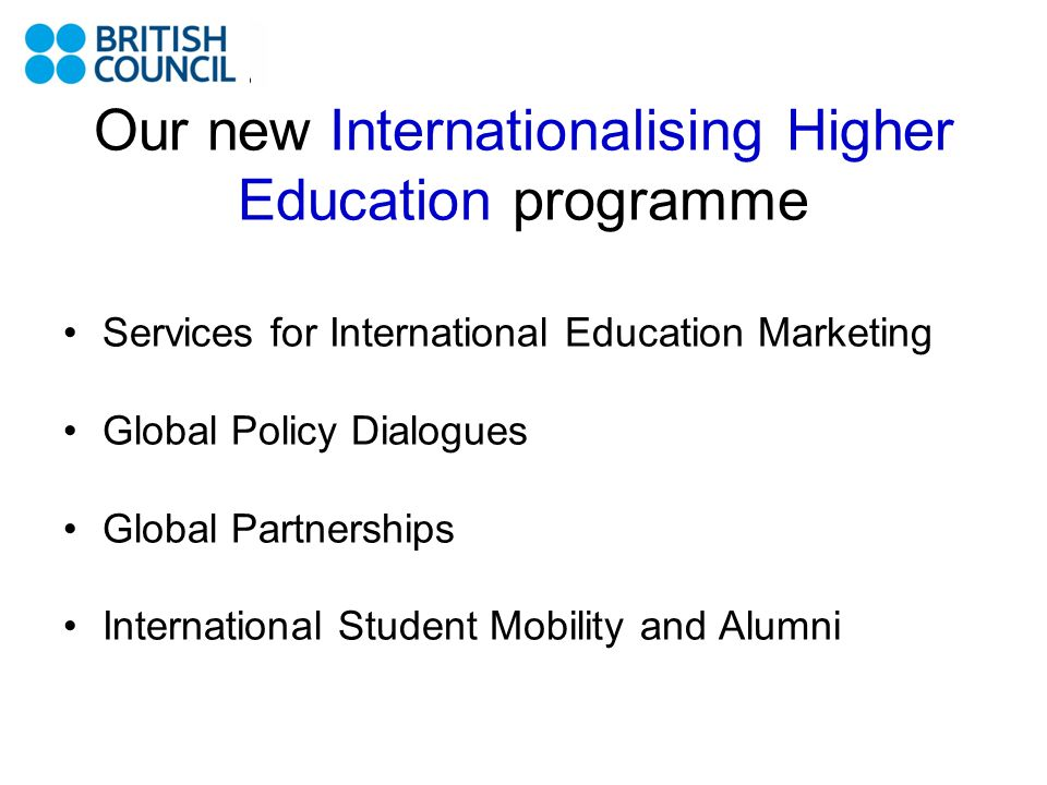 Our new Internationalising Higher Education programme