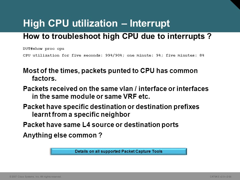 Troubleshooting High Cpu Utilization On Cisco Routers