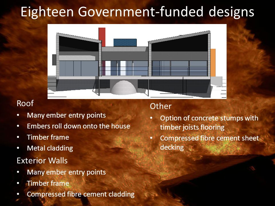 Eighteen Government-funded designs