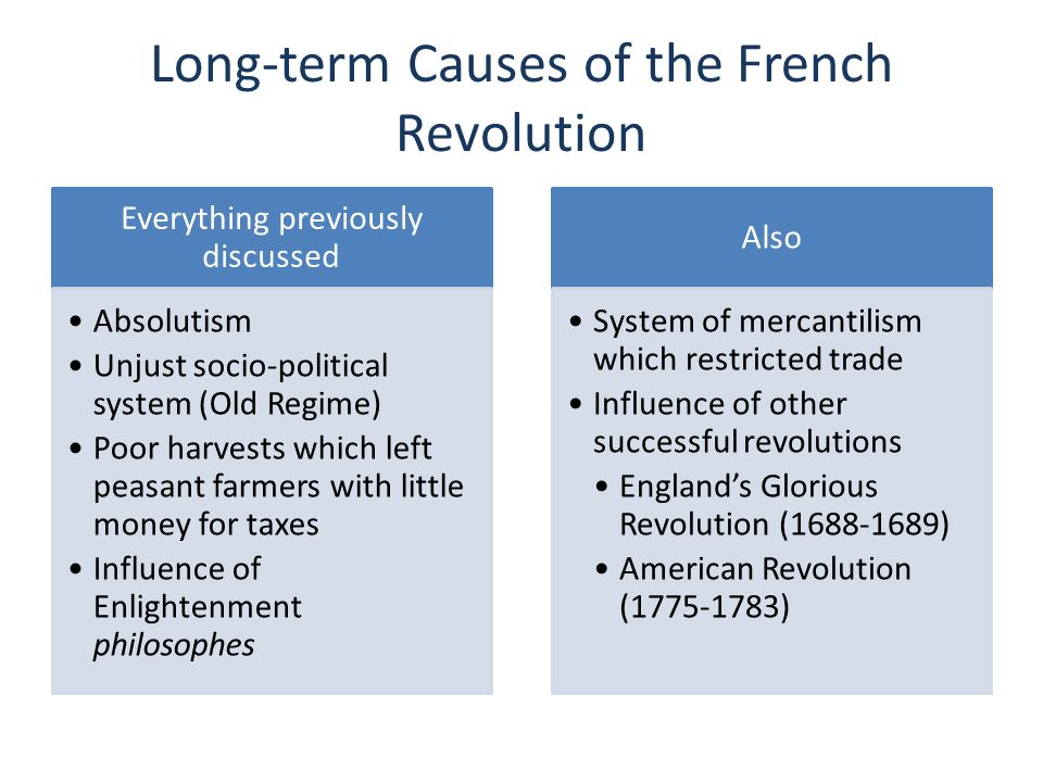 an analysis of the presentation on the changing political causes of the french revolution Causes of french revolution: political, social and economic causes the three main causes of french revolution are as follows: 1 political cause 2 social cause 3.