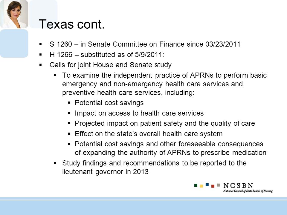 Texas cont. S 1260 – in Senate Committee on Finance since 03/23/2011