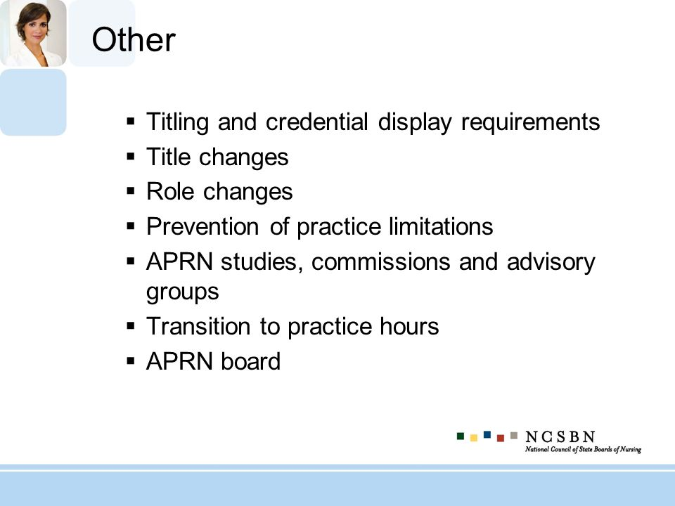 Other Titling and credential display requirements Title changes