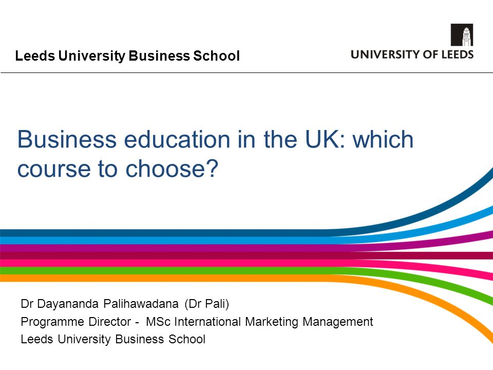 Business education in the UK: which course to choose