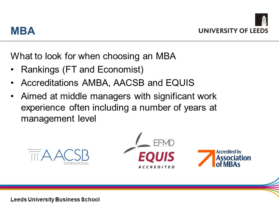 MBA What to look for when choosing an MBA Rankings (FT and Economist)