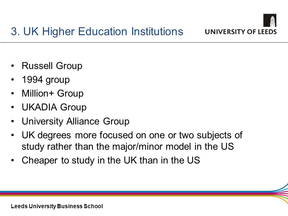 3. UK Higher Education Institutions