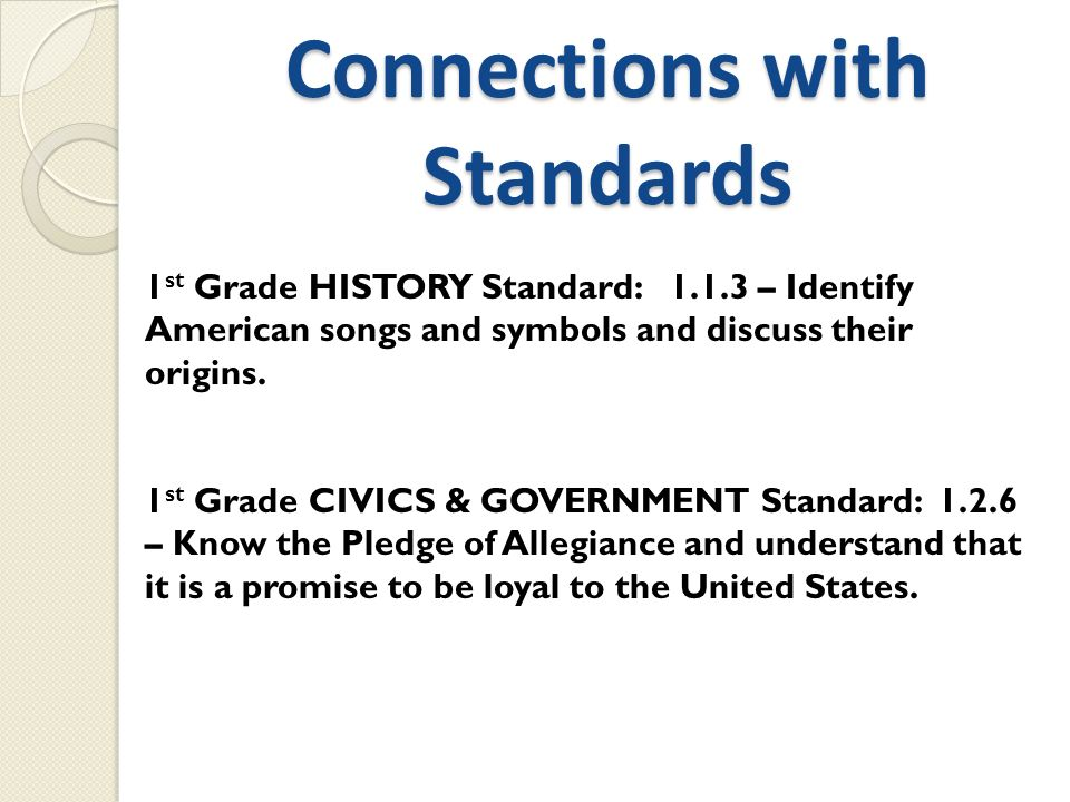 Connections with Standards