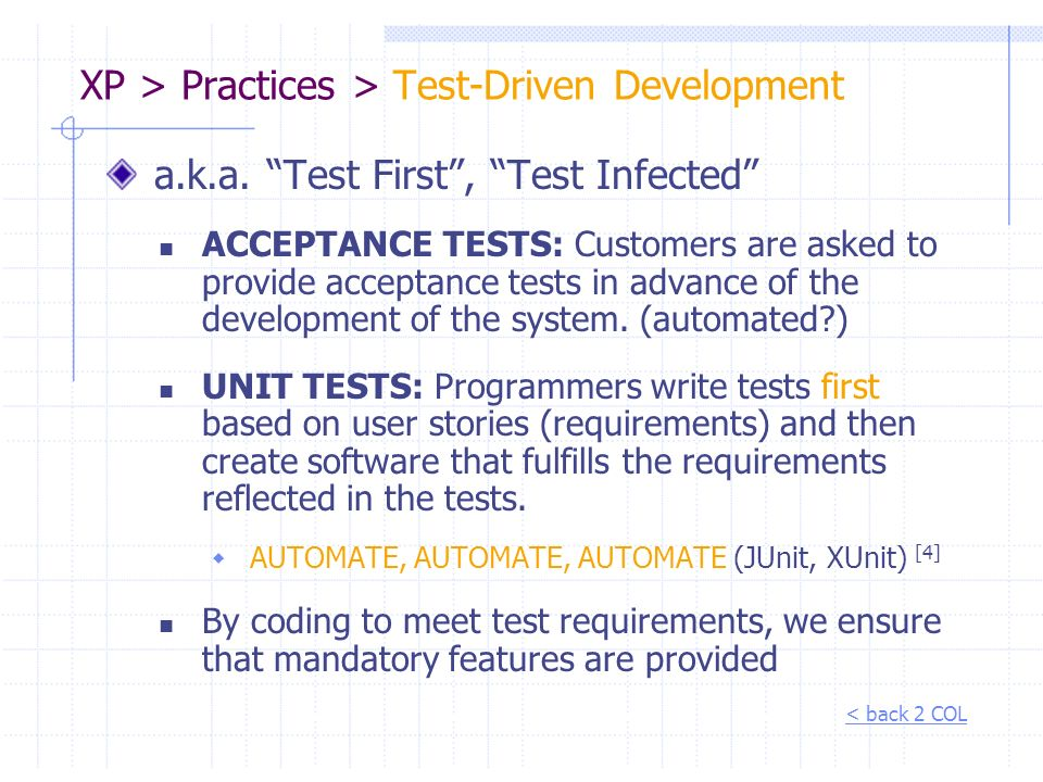 XP > Practices > Test-Driven Development
