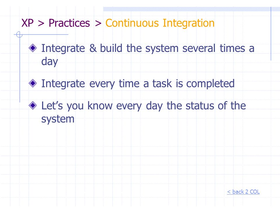 XP > Practices > Continuous Integration