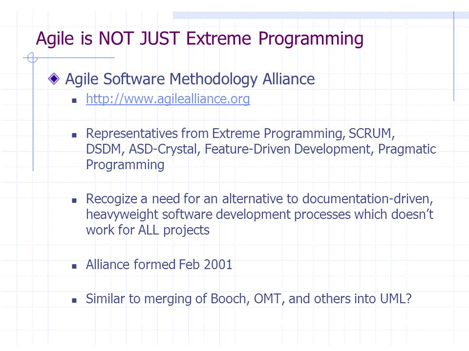 Agile is NOT JUST Extreme Programming