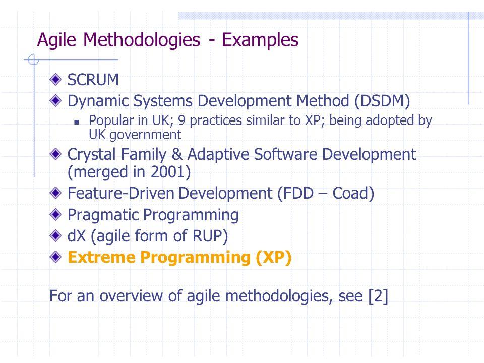 Agile Methodologies - Examples