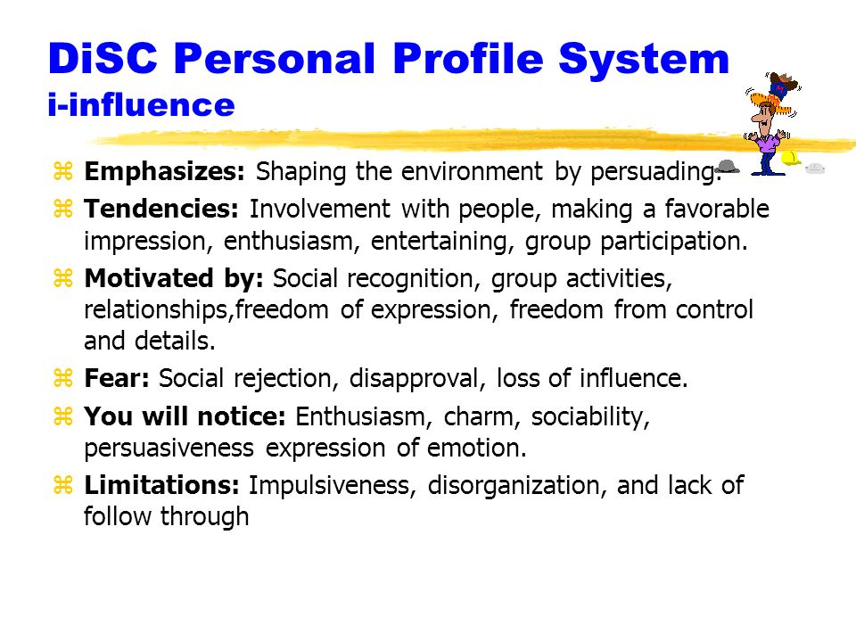 DiSC Personal Profile System i-influence