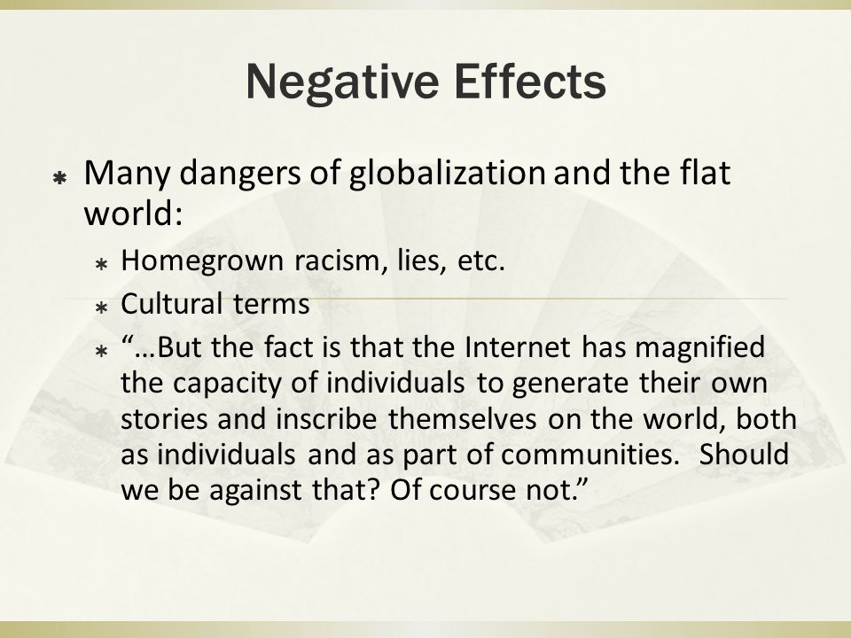 """opposition to globalisation Nor is opposition to globalization primarily economic """"it's about fairness, loss of control, and elites' loss of credibility it hurts the cause of trade to."""