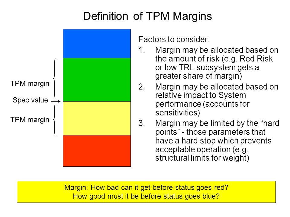 Definition of TPM Margins