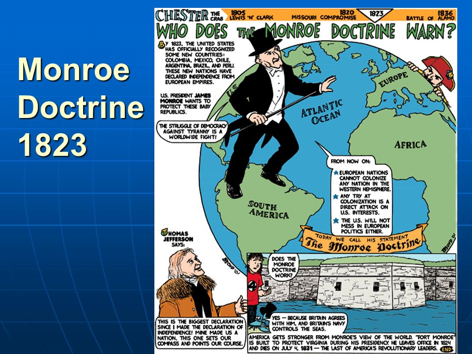 the monroe doctrine didnt allow america Definition of the monroe doctrine, an american foreign policy statement from   and adams did not want to become too involved with the newly  up king  ferdinand vii, who had been forced to accept a liberal constitution.