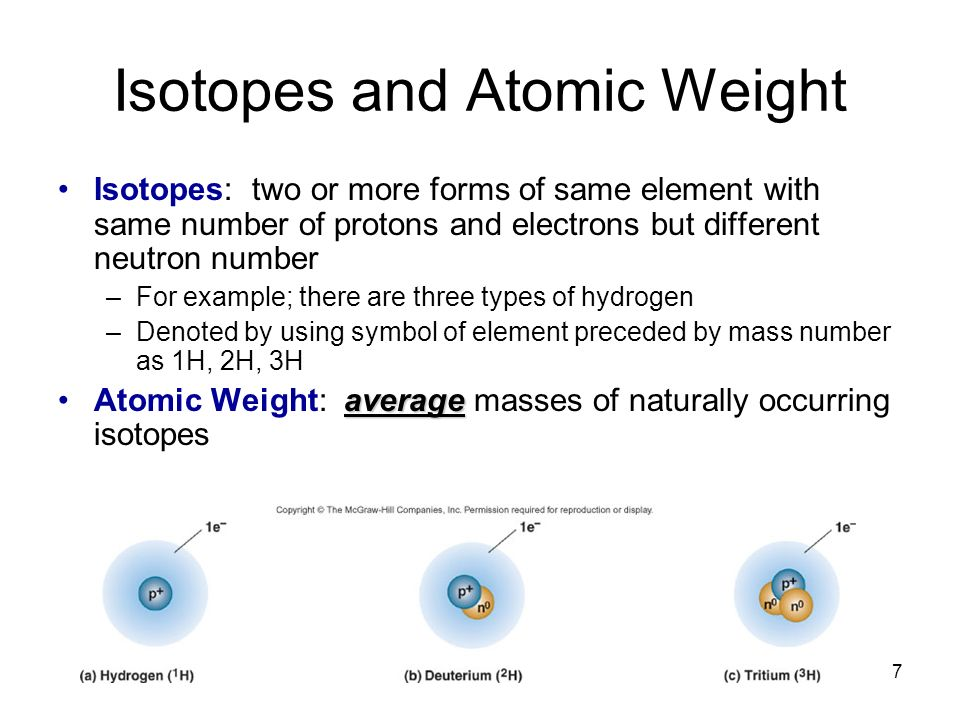 Isotopes and Atomic Weight