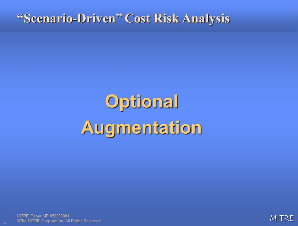 Scenario-Driven Cost Risk Analysis