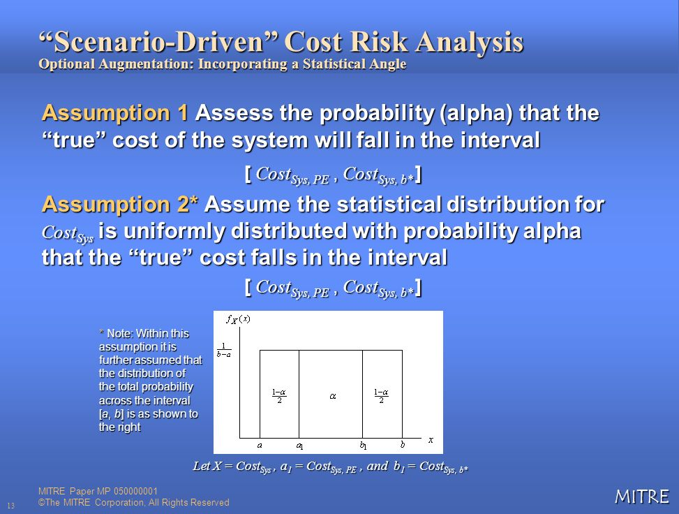 Scenario-Driven Cost Risk Analysis Optional Augmentation: Incorporating a Statistical Angle