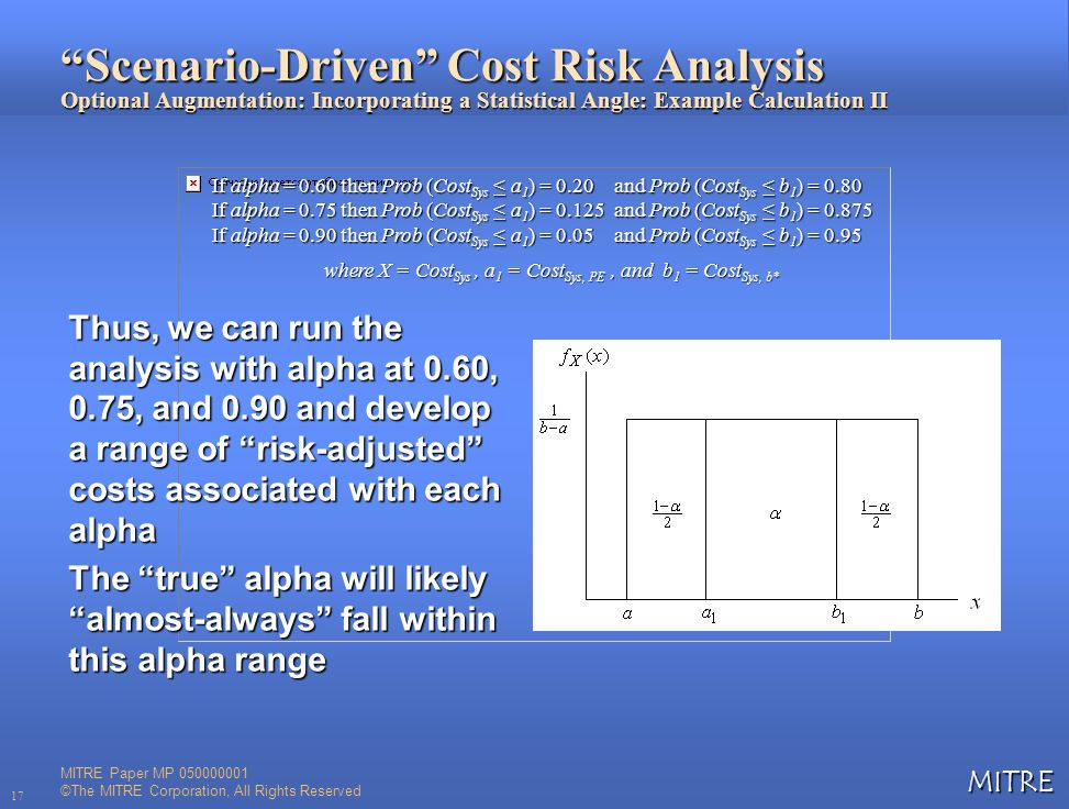 Scenario-Driven Cost Risk Analysis Optional Augmentation: Incorporating a Statistical Angle: Example Calculation II