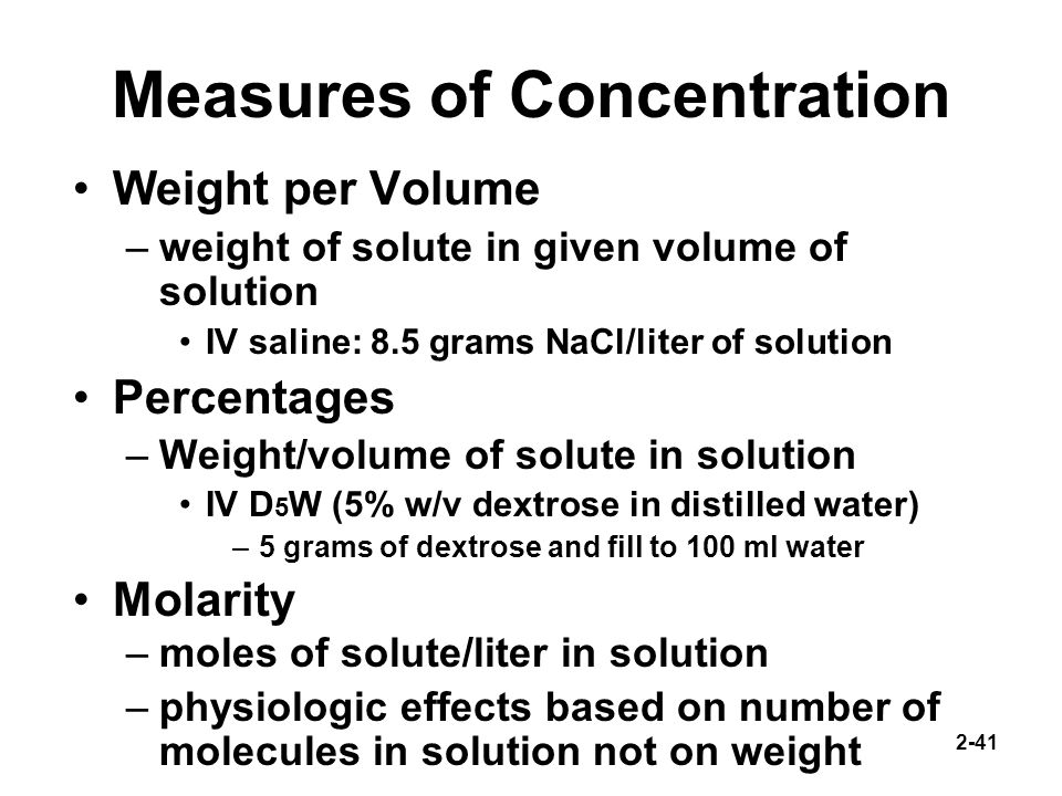 how to find concentration when not given volume