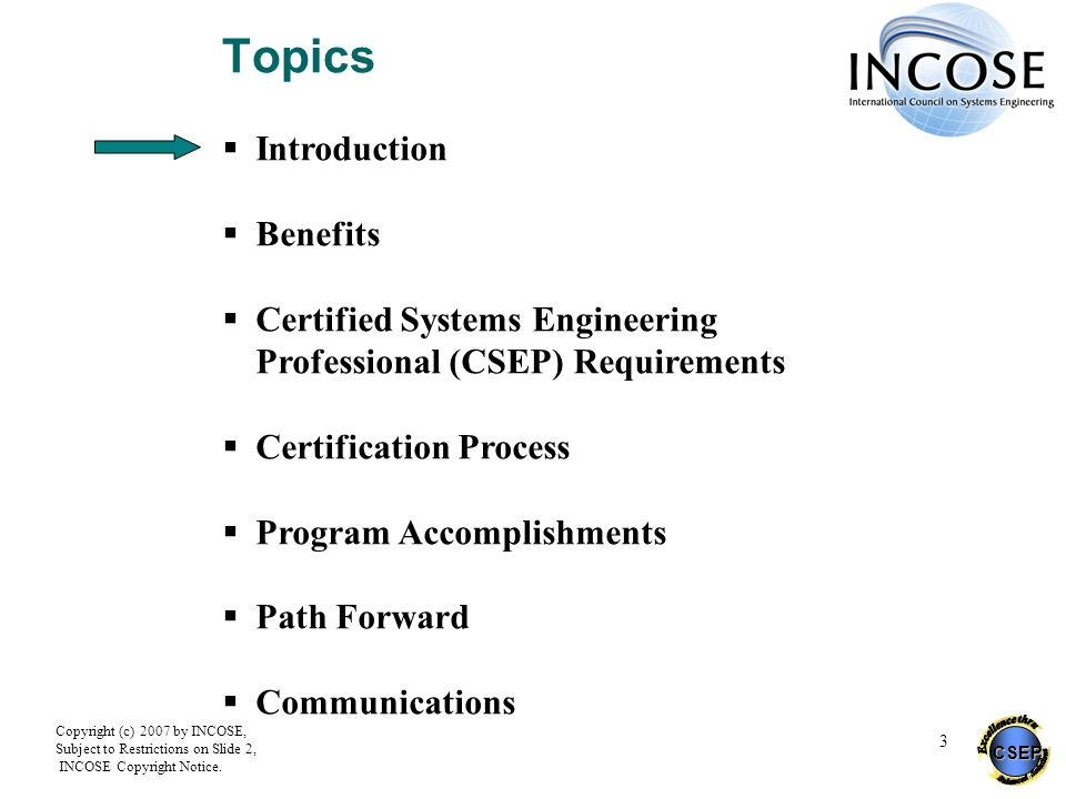 Topics Introduction Benefits