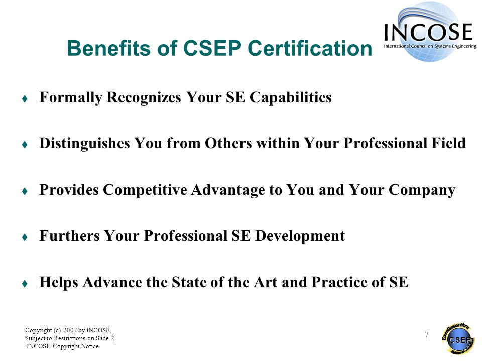 Benefits of CSEP Certification