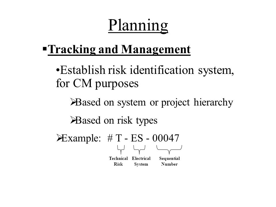 Planning Tracking and Management