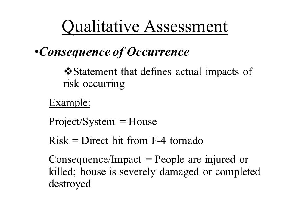 Qualitative Assessment