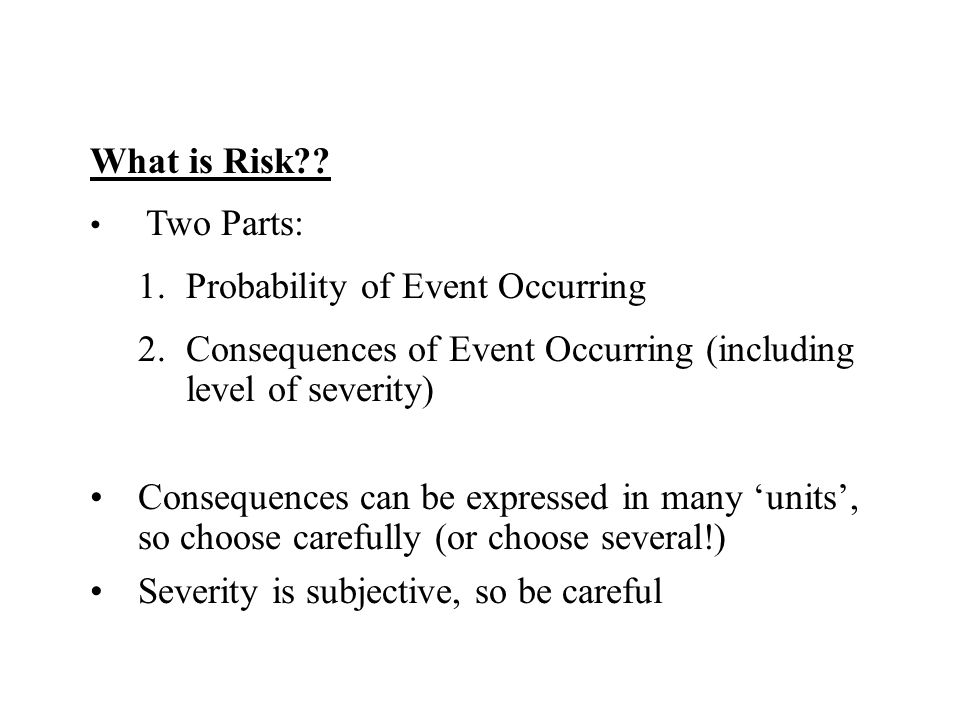 Probability of Event Occurring