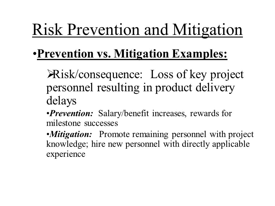 Risk Prevention and Mitigation
