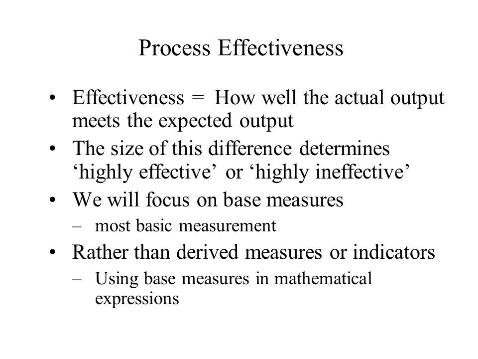 Process Effectiveness