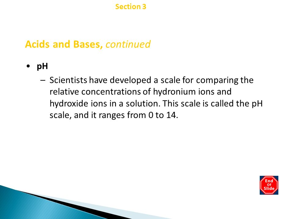 Acids and Bases, continued