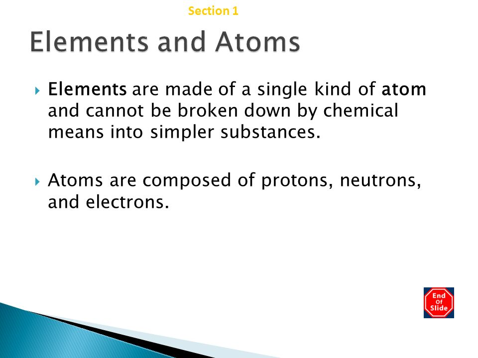Elements and Atoms Chapter 2