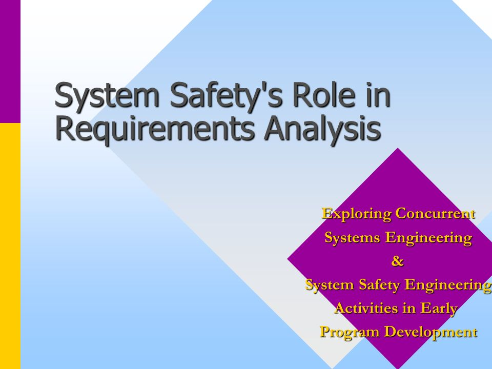 System Safety s Role in Requirements Analysis
