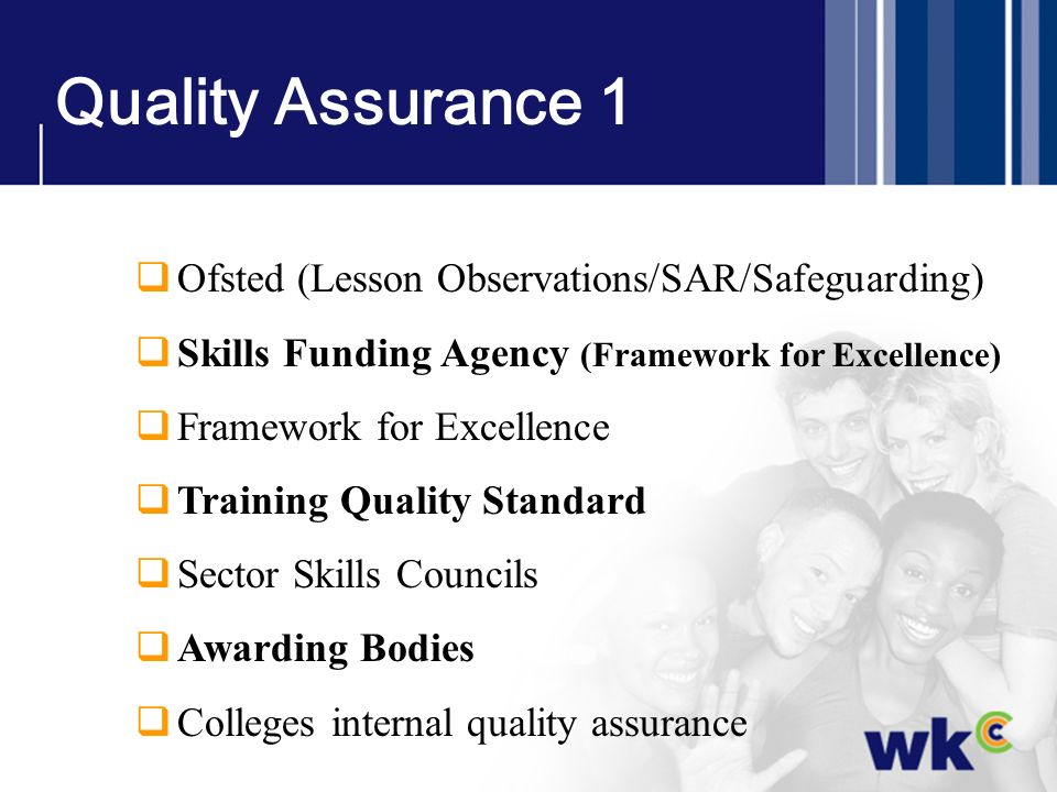 Quality Assurance 1 Ofsted (Lesson Observations/SAR/Safeguarding)