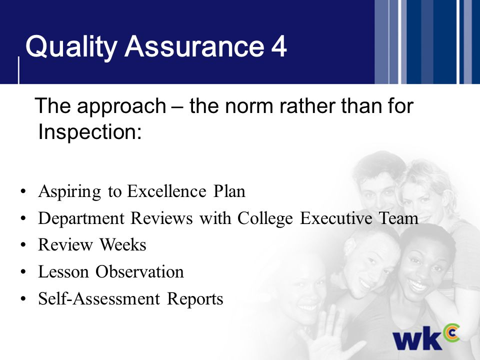 Quality Assurance 4 Aspiring to Excellence Plan
