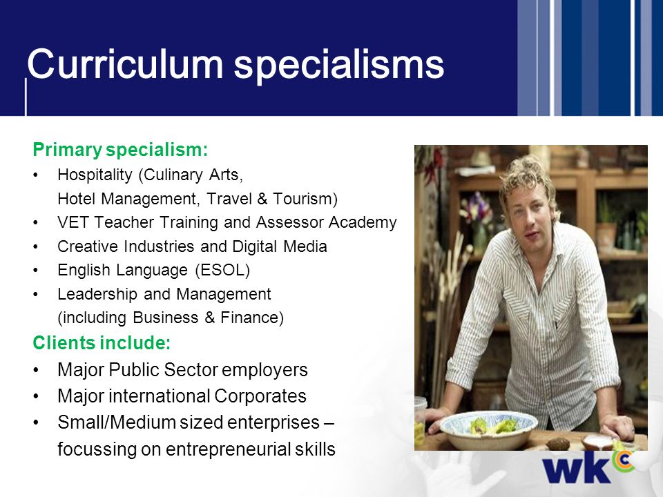 Curriculum specialisms