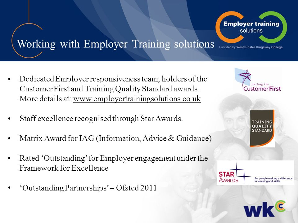 Working with Employer Training solutions